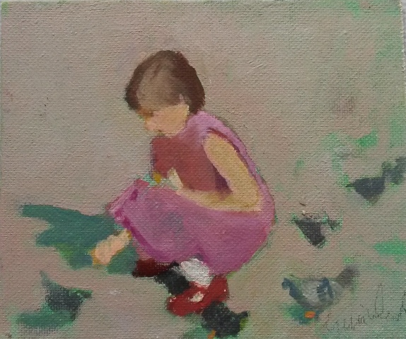 21. Gina Ward. Feeding the Pigeons