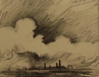 44. Trevor Grimshaw. Clouds over Chimneys