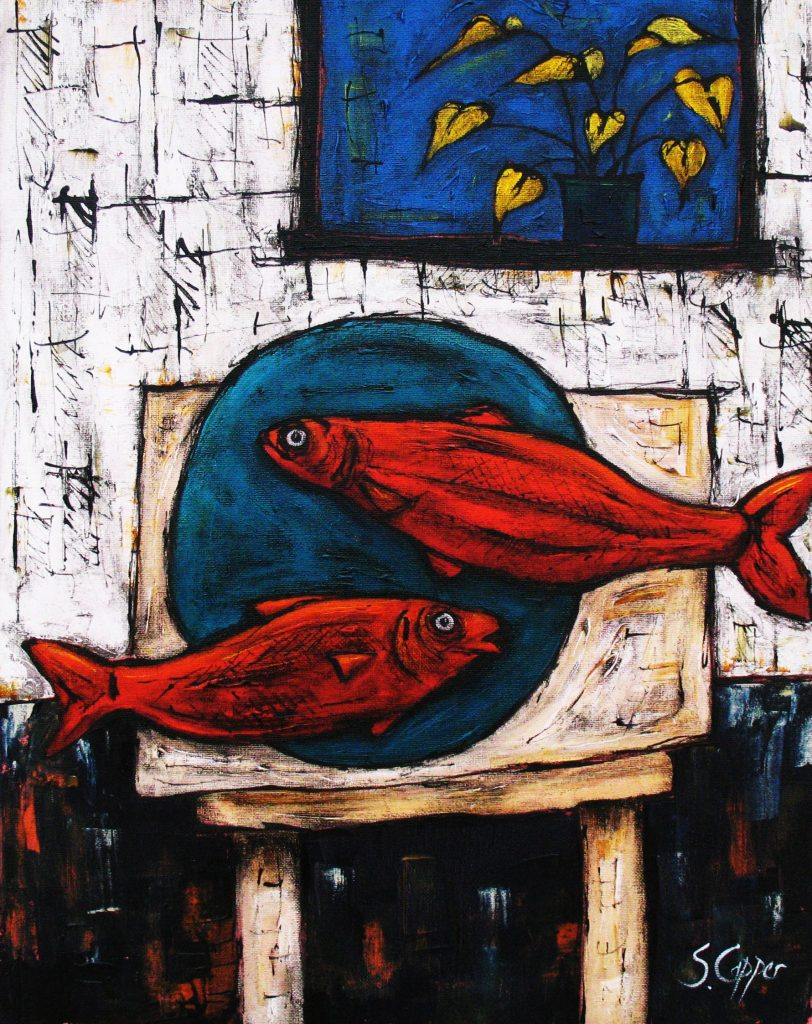 Still Life with Fish and Plant