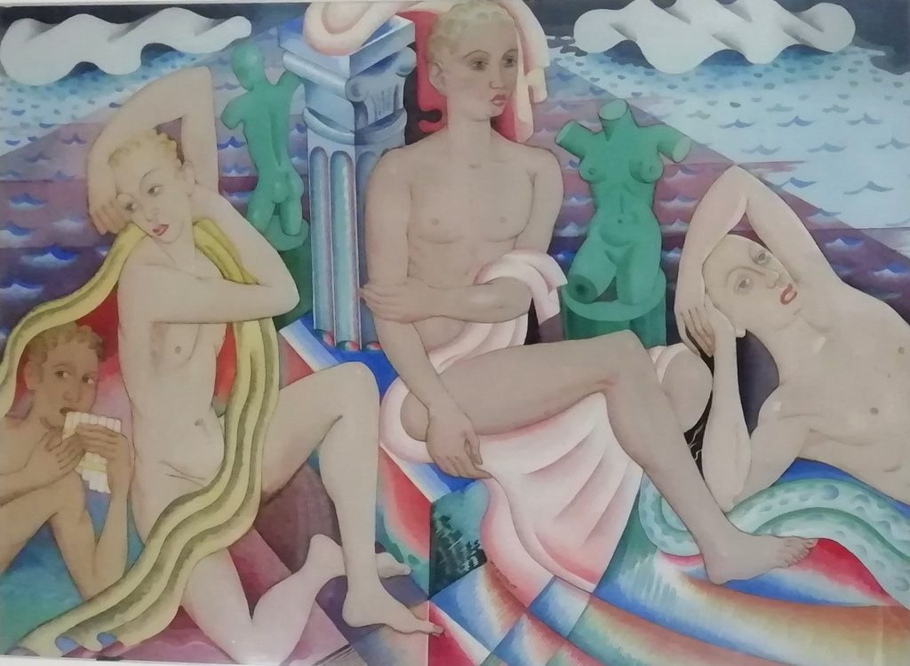 The Bathers watercolour
