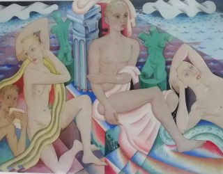 The Bathers watercolour