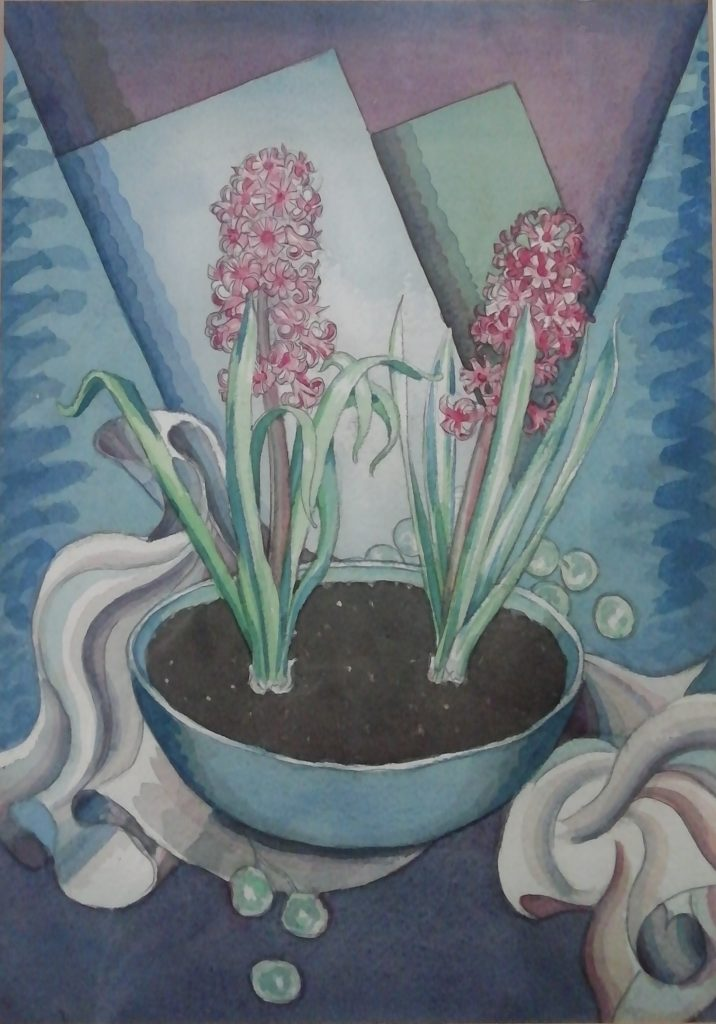 Albert Wainwright. Two Hyacinths in a Bowl