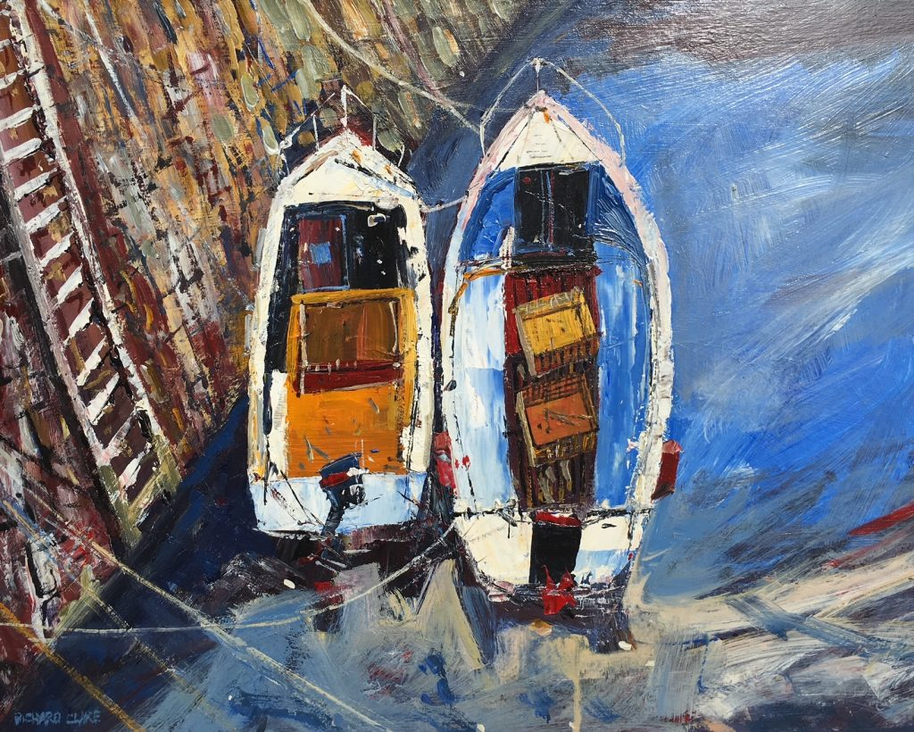 Richard Clare. Boats at Crail Harbour, Scotland