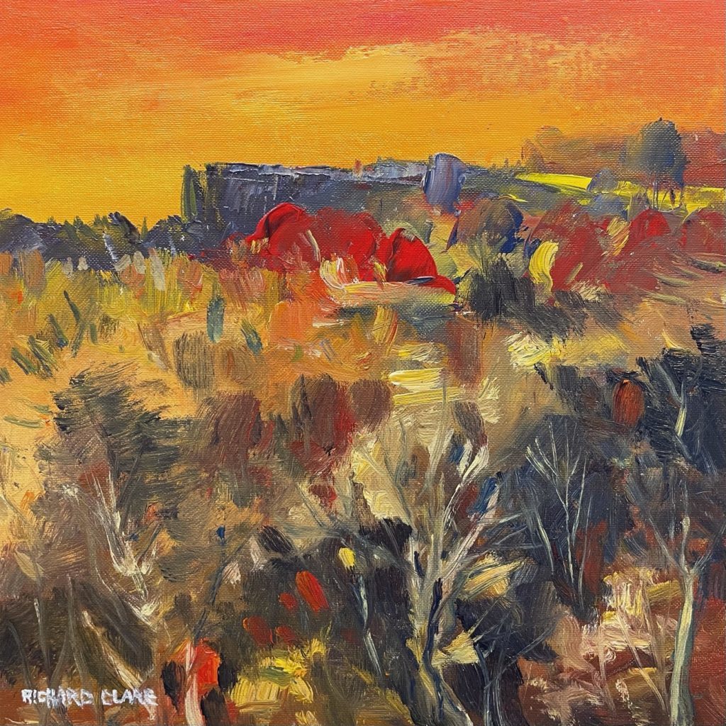 Richard Clare. Derbyshire Edge Sunset