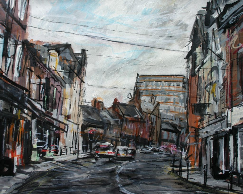 Matthew Thompson. Driving Through Altrincham