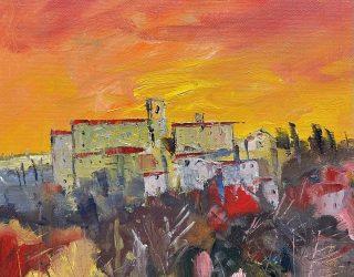 Richard Clare. Tuscan Sunset