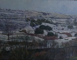Janina Cebertowicz. April Snow, Hills above Bacup Road