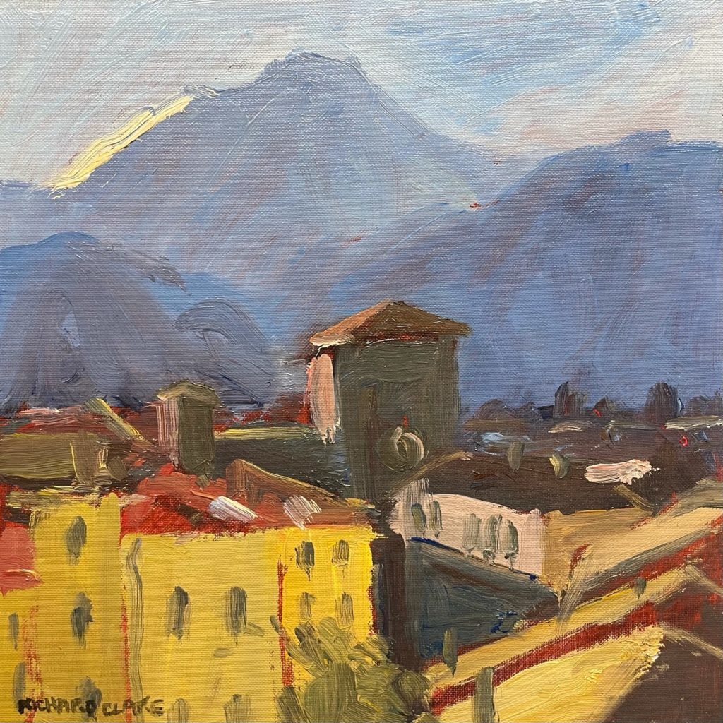 Rooftops and Mountains North Tuscany