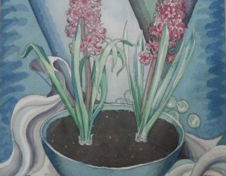 Two Hyacinths in a Bowl